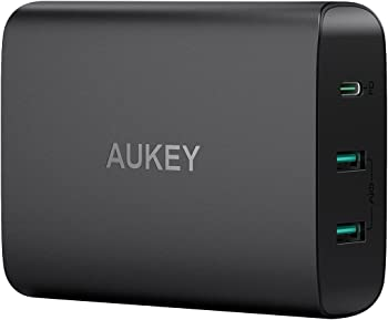 Aukey 72W 3-Port Fast Charger with 60W Power Delivery 3.0