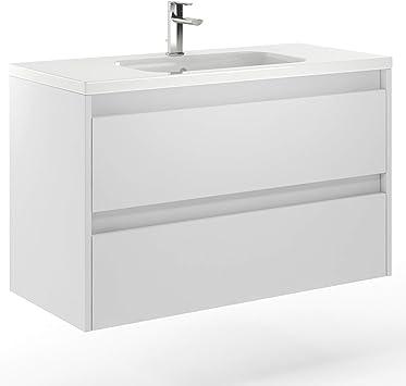 Amazon Com Randalco 40 Modern Bathroom Vanity Cabinet Docce White Oak Wood 40 X 24 X 18 Inch Vanity Cabinet Ceramic Top Sink Furniture Decor