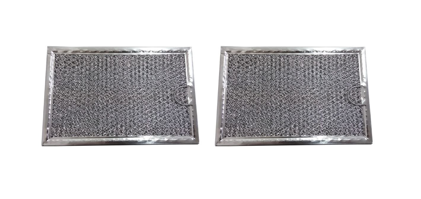(2) Microwave Hood Vent Filters Grease Filter 5 x 7 5/8 x 3/32