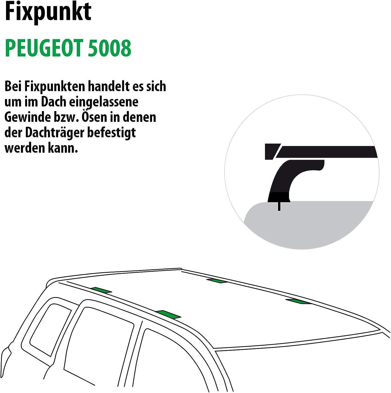 Rameder Komplettsatz Dachträger Wingbar Evo Für Peugeot 5008 114813 08182 2 Auto