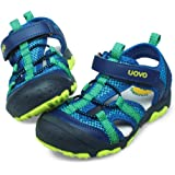 UOVO Boys Sandals Hiking Athletic Closed-Toe Beach Sandals Kids Summer Shoes