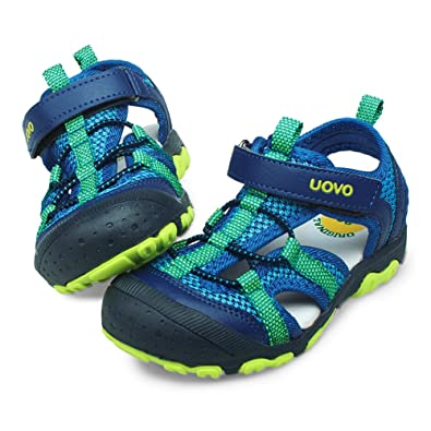 de57eb63db59b UOVO Boys Sandals Hiking Athletic Closed-Toe Beach Sandals Kids Summer Shoes  Blue