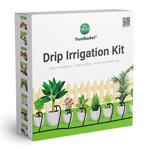 TrustBasket Drip Irrigation Garden Watering Kit for 100 Plants Automatic Irrigation Equipment