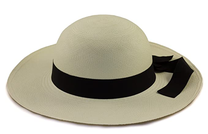 d32a1ecea285be Tumi Ladies Panama Hat - Cream with Black Band – Rollable/Foldable –  Handwoven from