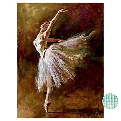 Diamond Painting Cross Stitch Able Ballerina Diamond Embroidery Paint Diamond Cross Stitch Full Round Mosaic House Decor Buy One Get One Free