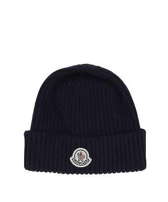 Moncler Men s 002990002309752 Blue Wool Hat  Amazon.co.uk  Clothing 8ed44f71ba2