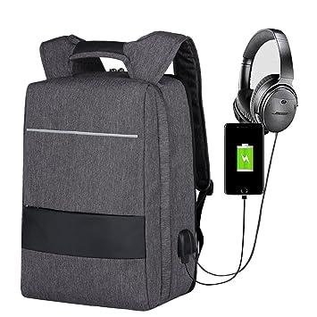 2d7f9587af Sac à Dos pour Ordinateur Portable,Mbuynow Sac à Dos Antivol 17 Pouces Slim  Imperméable avec Port de Charge USB ...