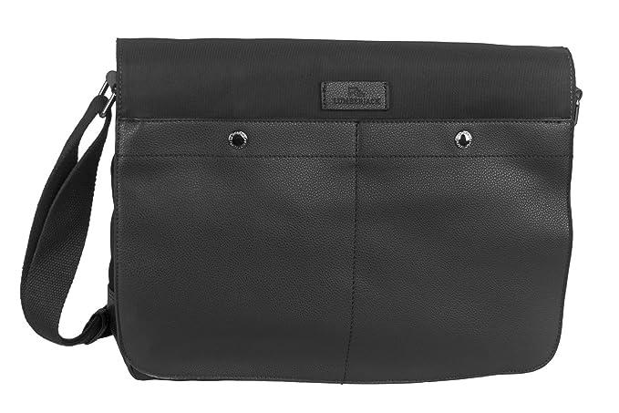 f88131f780 Tracolla uomo LUMBERJACK nero borsa bandoliera borsello grande con patta  F657: Amazon.it: Abbigliamento