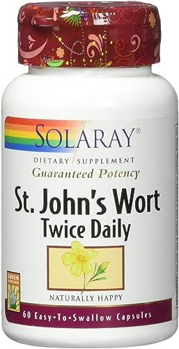 Solaray Guaranteed Potency St. John's Wort Two Daily 450 mg Capsule