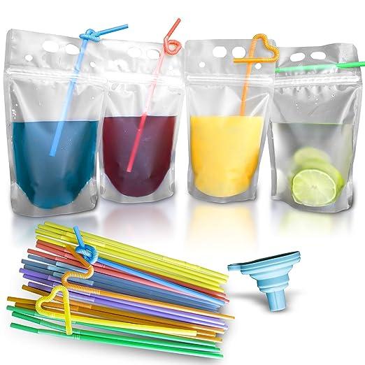 100 bolsas de plástico transparentes con doble cremallera ...