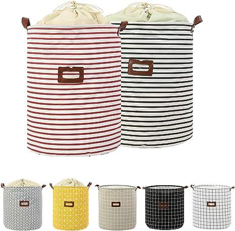 F-White-Letter Collapsible Laundry Hamper Clothes Laundry Basket Canvas Nursey Laundry Hamper Foldable Bedroom Storage Basket Bins for Home