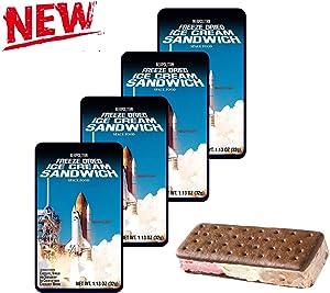 LuvyDuvy Freeze-Dried Neapolitan Ice Cream Sandwiches (chocolate-Vanilla-Strawberry) - 4-Pack