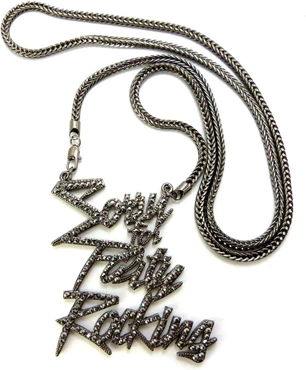 NYFASHION101 Sorry for Party Rocking Iced Out Pendant w//36 Franco Chain Necklace