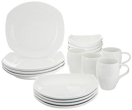Dansk 16-Piece Classic Fjord Porcelain Dinnerware Set White  sc 1 st  Amazon.com & Amazon.com | Dansk 16-Piece Classic Fjord Porcelain Dinnerware Set ...