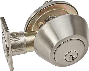 Design House 727446 Single Cylinder Deadbolt, Satin Nickel