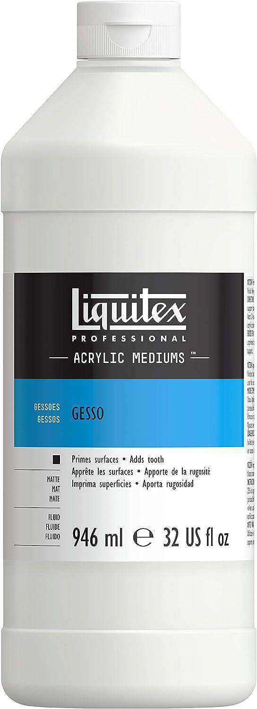 Liquitex Professional White Gesso Surface Prep Medium, 32-oz (5332)