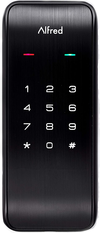 Alfred International ALFDB2BL (Black) Alfred DB2 Smart Door Lock Deadbolt Touchscreen Keypad, Bluetooth, Up to 20 Pin Codes