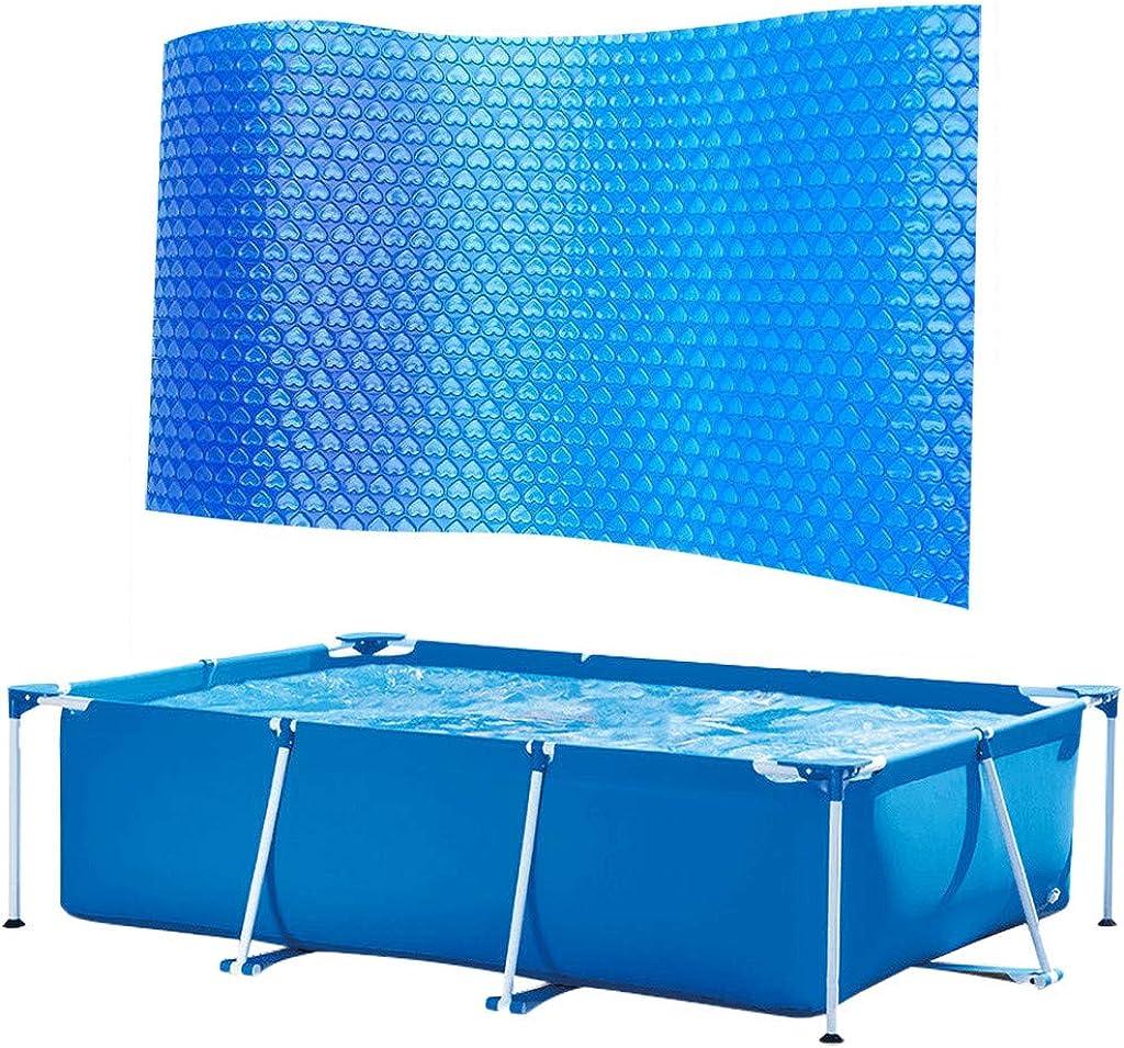 DressLksnf Fundas para Piscinascubierta de La Piscina Protector Pie sobre El Suelo Protección Azul Piscinapelícula de Aislamiento de Piscina Anti-Evaporación Y Anticorrosión 300 * 200 Cm