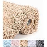 Bathroom Rugs Microfiber Plush Bath Mat Machine Washable, Slip Resistance Rubber and Absorbency Bath Rugs for Bathroom…