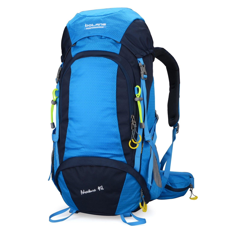 Hiking Daypack Waterproof Camping Outdoor Backpack 45l Bolang (Orange, 45L) Doleesune Co. Ltd