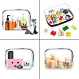 2pcs TSA Approved Travel Clear Toiletry Bag for Men and Women Travel Accessories Quart Size Toiletries Cosmetic Pouch Makeup Bags
