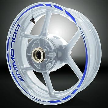 Yamaha MT10 wheel rim graphics black blue silver x 12 decals stickers
