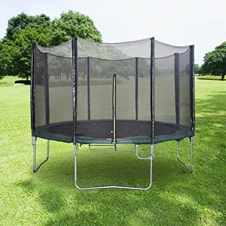 8FT Trampoline Set With Free Safety Net Enclosure Rain Cover Shoe Bag