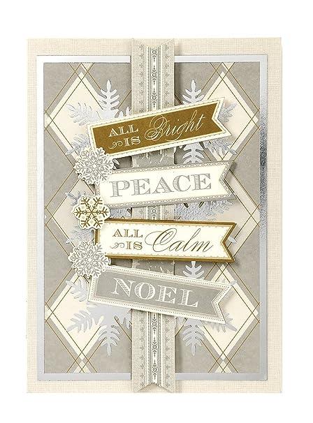 Anna Griffin Christmas Cards.Amazon Com Handmade Dimensional Noel Christmas Card By Anna