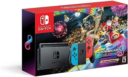 Amazon Com Nintendo Switch Mario Kart 8 Deluxe Accessories Bundle Video Games