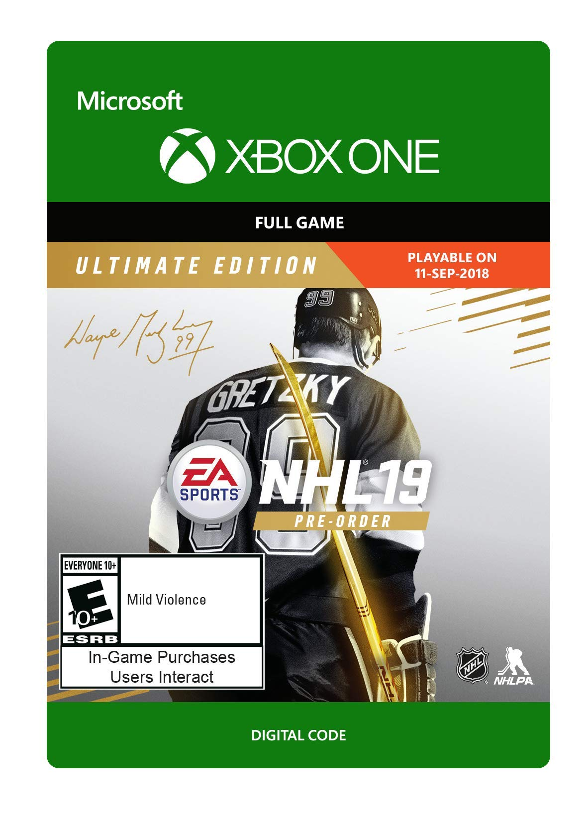 NHL 19: Ultimate Edition - Xbox One [Digital Code] by Electronic Arts (Image #1)
