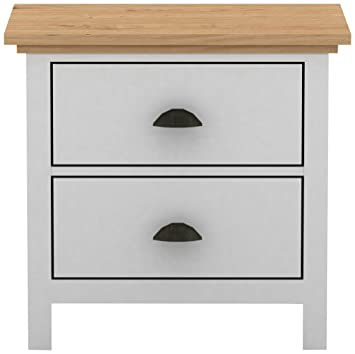 promo code ce477 db81a Birlea Richmond Shaker Style Nightstand/Bedside Cabinet, White & Pine