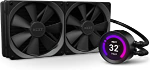 NZXT Kraken Z63 280mm - RL-KRZ63-01 - AIO RGB CPU Liquid Cooler - Customizable LCD Display - Improved Pump - Powered by CAM V4 - RGB Connector - AER P 140mm Radiator Fans (2 Included)