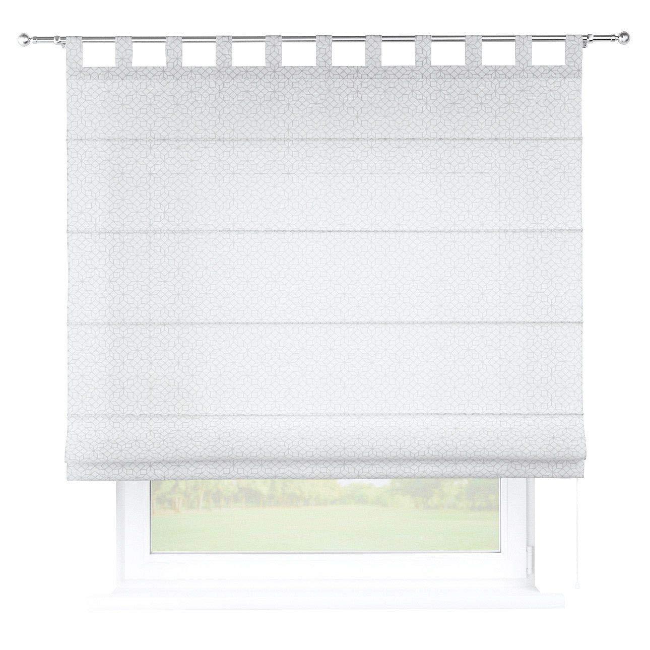 Dekoria Raffrollo Verona ohne Bohren Blickdicht Faltvorhang Raffgardine Wohnzimmer Schlafzimmer Kinderzimmer 100 × 170 cm weiß, grau Raffrollos auf Maß maßanfertigung möglich