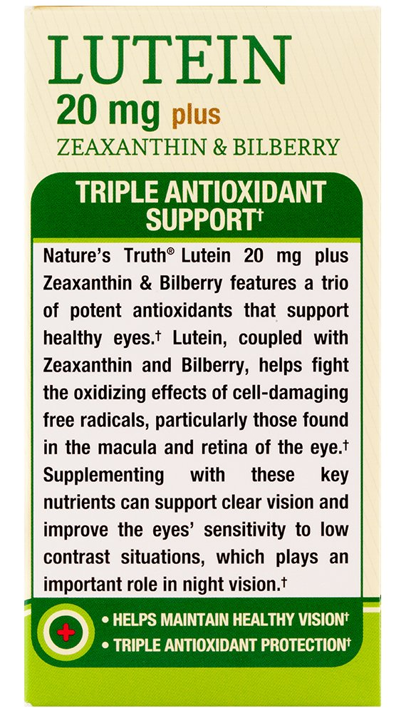 Nature's Truth Lutein 20 mg Plus Zeaxanthin and Bilberry Capsules, 39 Count by Nature's Truth (Image #5)