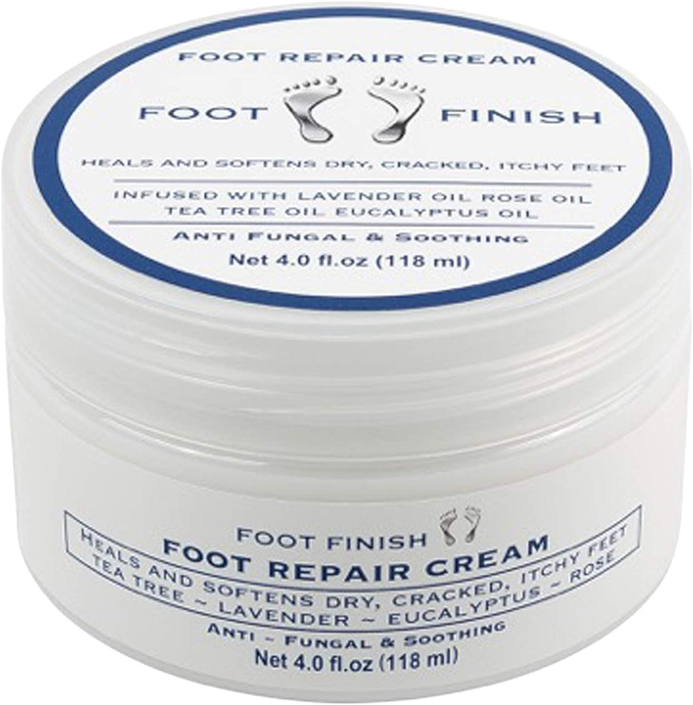 Toenail Fungus Treatment, Antifungal Cream, Athletes Foot, Foot Fungus, Dry Cracked Feet and Smelly Feet. with Essential Oils - Tea Tree Oil, Rose Oil, Lavender Oil. Antifungal Treatment Foot Repair
