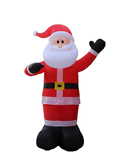 Genial 14 Foot Tall Huge Christmas Inflatable Santa Claus Outdoor Indoor Decoration