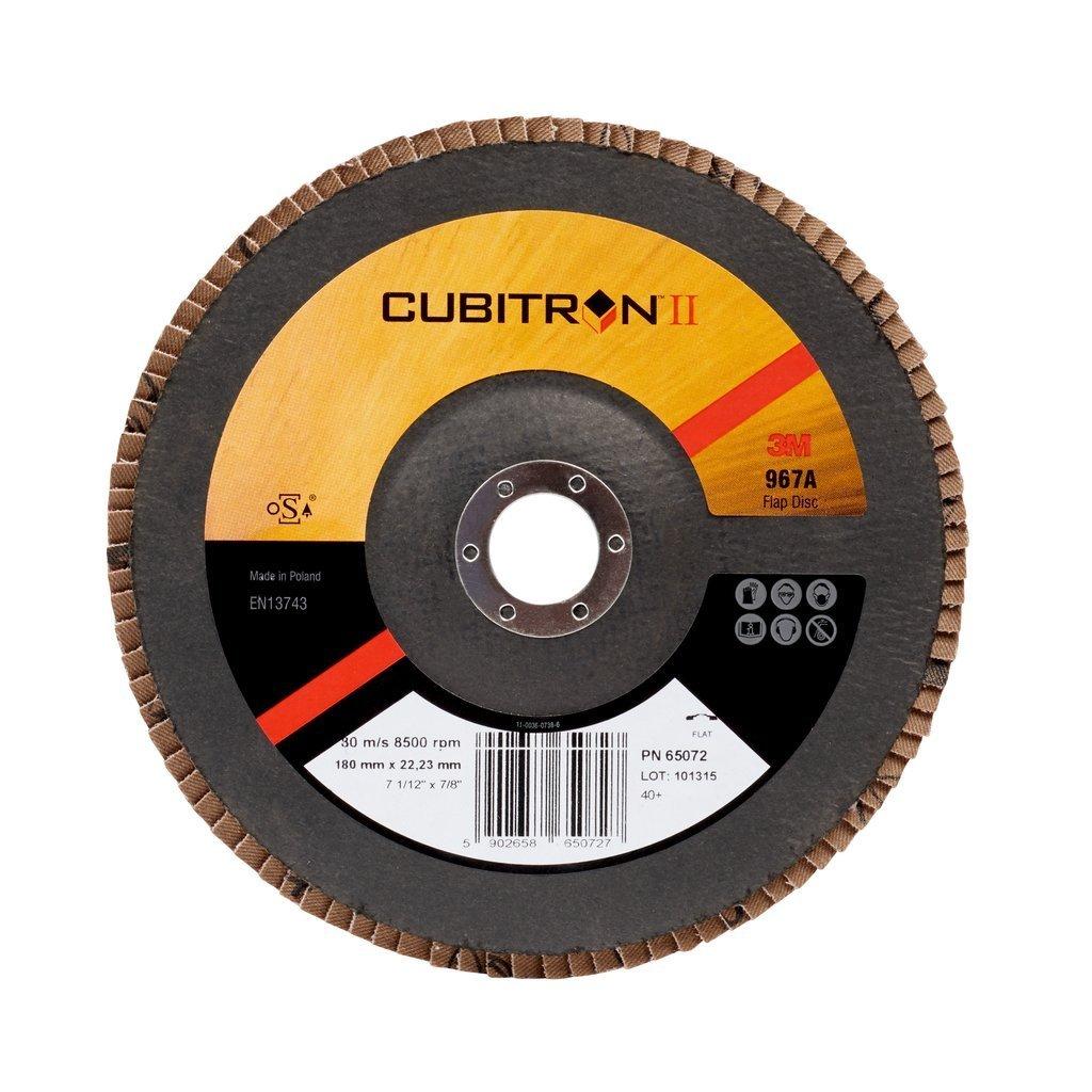 Grain 60+ Bomb/é Disque abrasif /à lamelles 3M Cubitron II 967A 115x22 mm 1 disque // boite