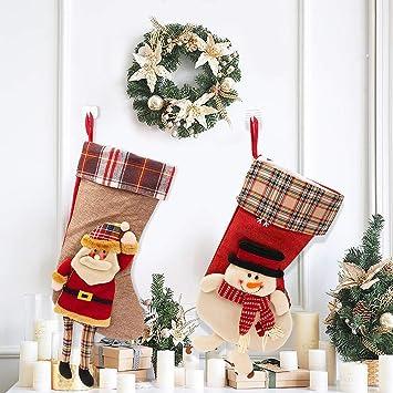 """SPECOOL Calcetines de Navidad Set de Colgar 17""""Calcetines de Navidad Regalos Calcetines de Navidad"""