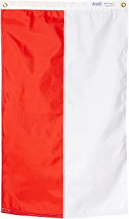 product image for Annin Flagmakers Model 196822 Poland Flag Nylon SolarGuard NYL-Glo, 2x3 ft, 100% Made in USA to Official United Nations Design Specifications