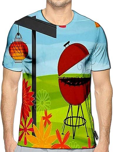 BlountDecor Loose T Shirt,Fun Strawberry Theme A Fashion Personality Customization