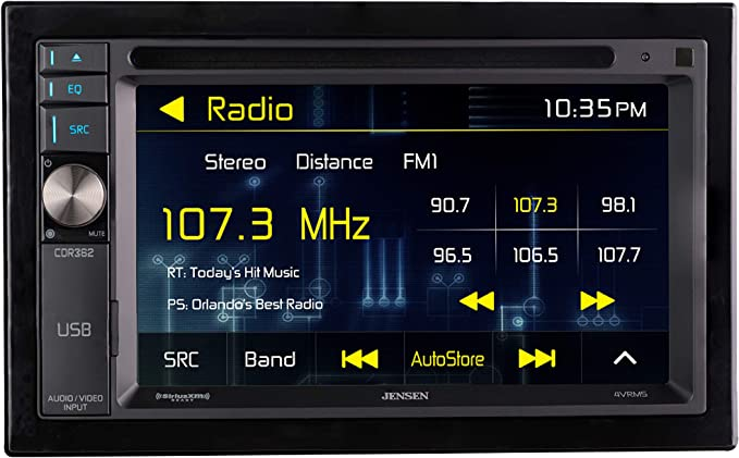 JENSEN CDR362 Double DIN Car Stereo Receiver