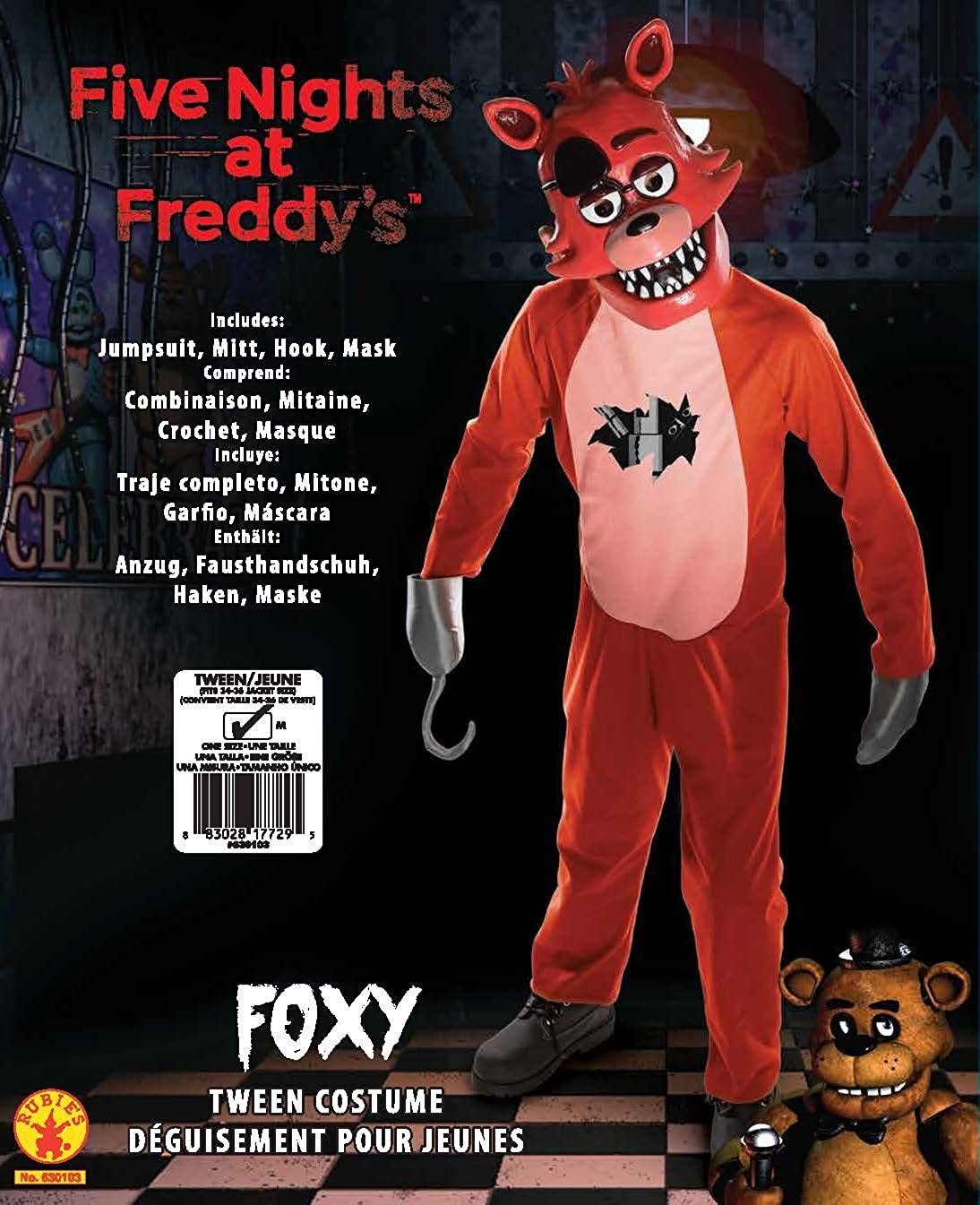 Amazon Com Rubie S Five Nights At Freddy S Tween Foxy Costume Toys Games