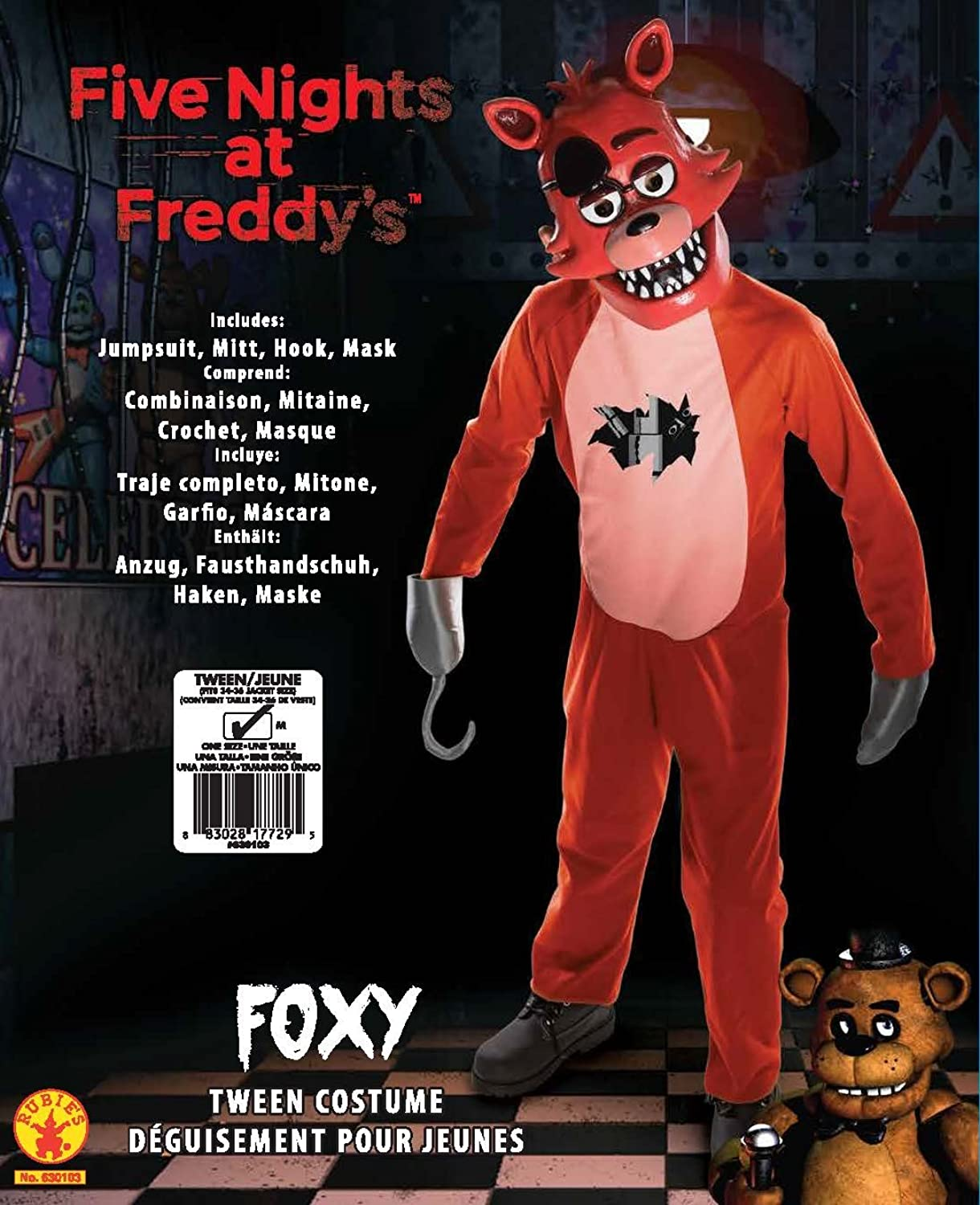 Amazon.com: Rubie's Costume Five Nights at Freddy's Tween Foxy ...