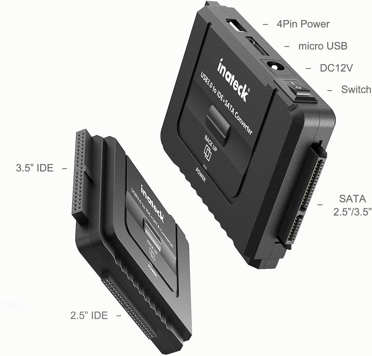Inateck UA2001 - IDE/SATA a USB 3.0 Adaptador Docking Station ...