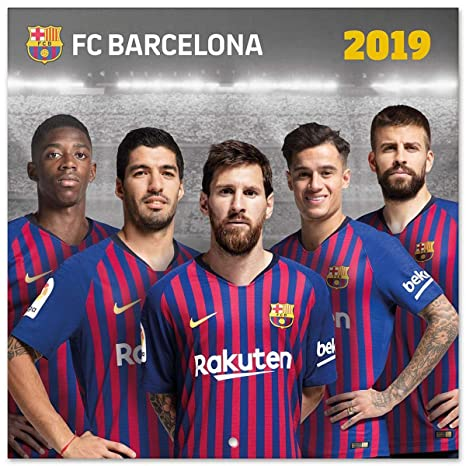 Calendario Barcellona.Close Up Calendario 2019 Fc Barcellona Amazon It Casa E