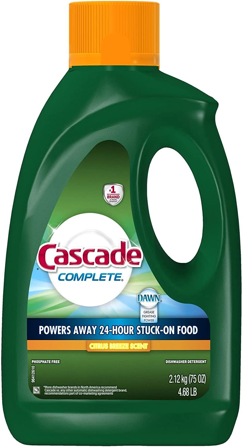 Cascade Complete Gel All-in-1 Dishwasher Detergent - 75 oz - Citrus breeze - 2 pk (Packaging May Vary)