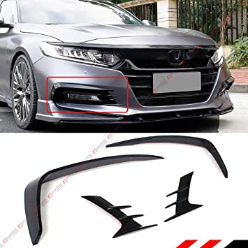 2018 For Honda Accord Front bumper Cover Protection front lip Trim blue Mirror*3