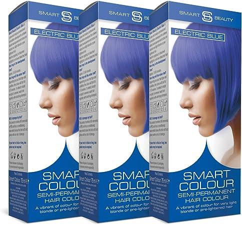 Smart Color Semi-Permanente Azul Eléctrico Tinte Cabello X 3