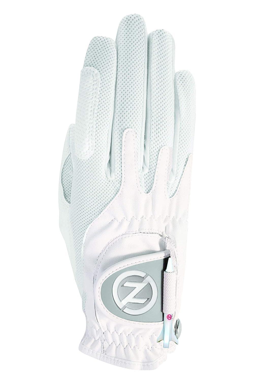 Zero Friction レディース コンプレッションフィット 合成繊維 ゴルフ用グローブ フリーサイズ Worn on Right Hand ホワイト B00PWWMIMY