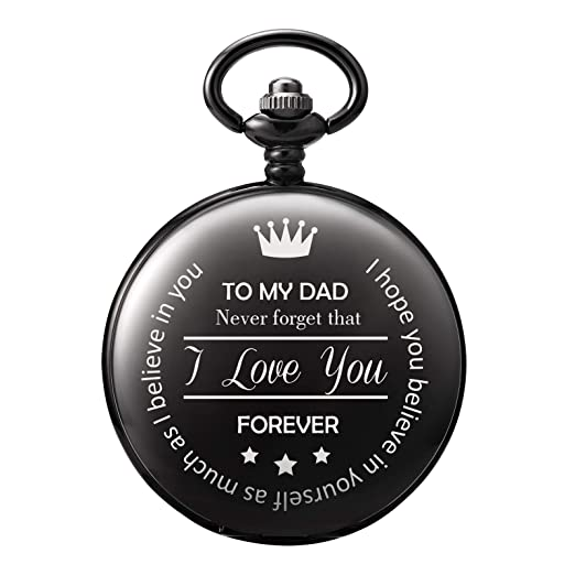 e31dd74ac Amazon.com: TREEWETO Men's Pocket Watch Gifts for Men Dad Father ...